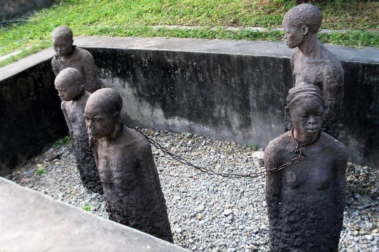 Memory for the slaves, Stone Town, Slave market