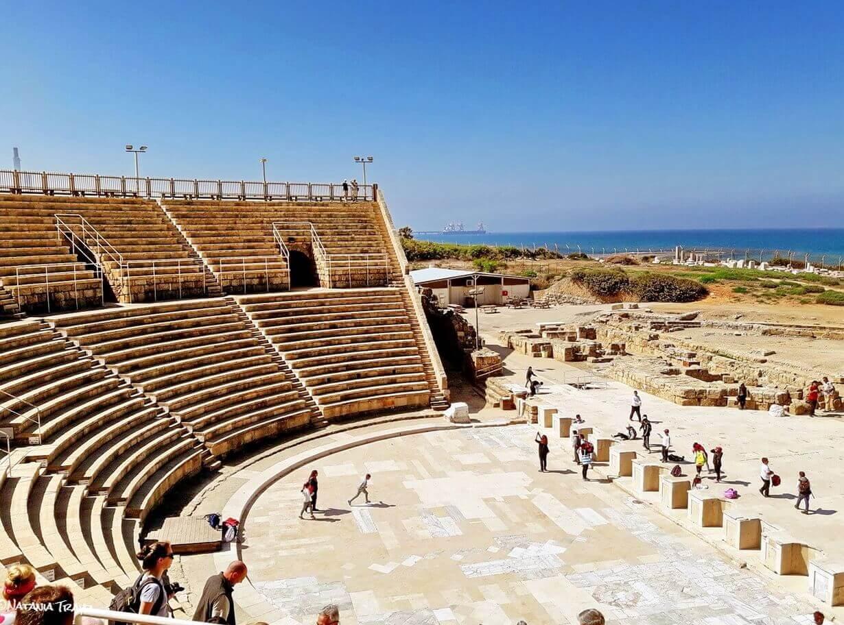 Caesarea Maritima, the amphitheater