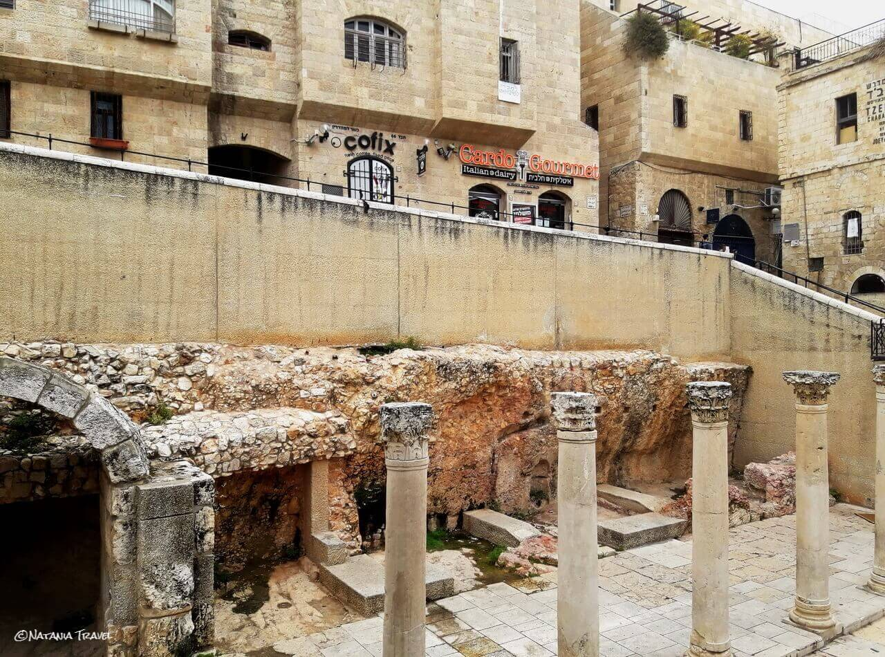 Jerusalem, Via Cardo, Jewish quartier, Israel, Izrael