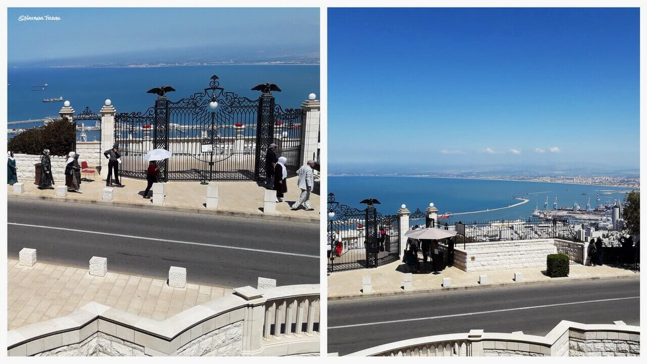 Haifa, the entrance, and the viewing balcony