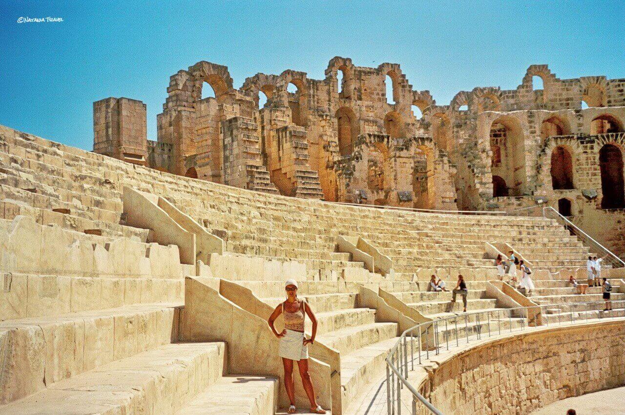 El Jem amphitheater, Sahara