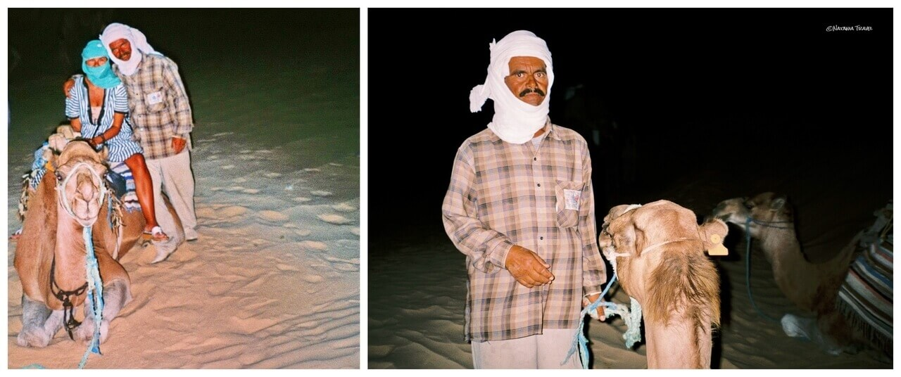 Riding the camel in desert