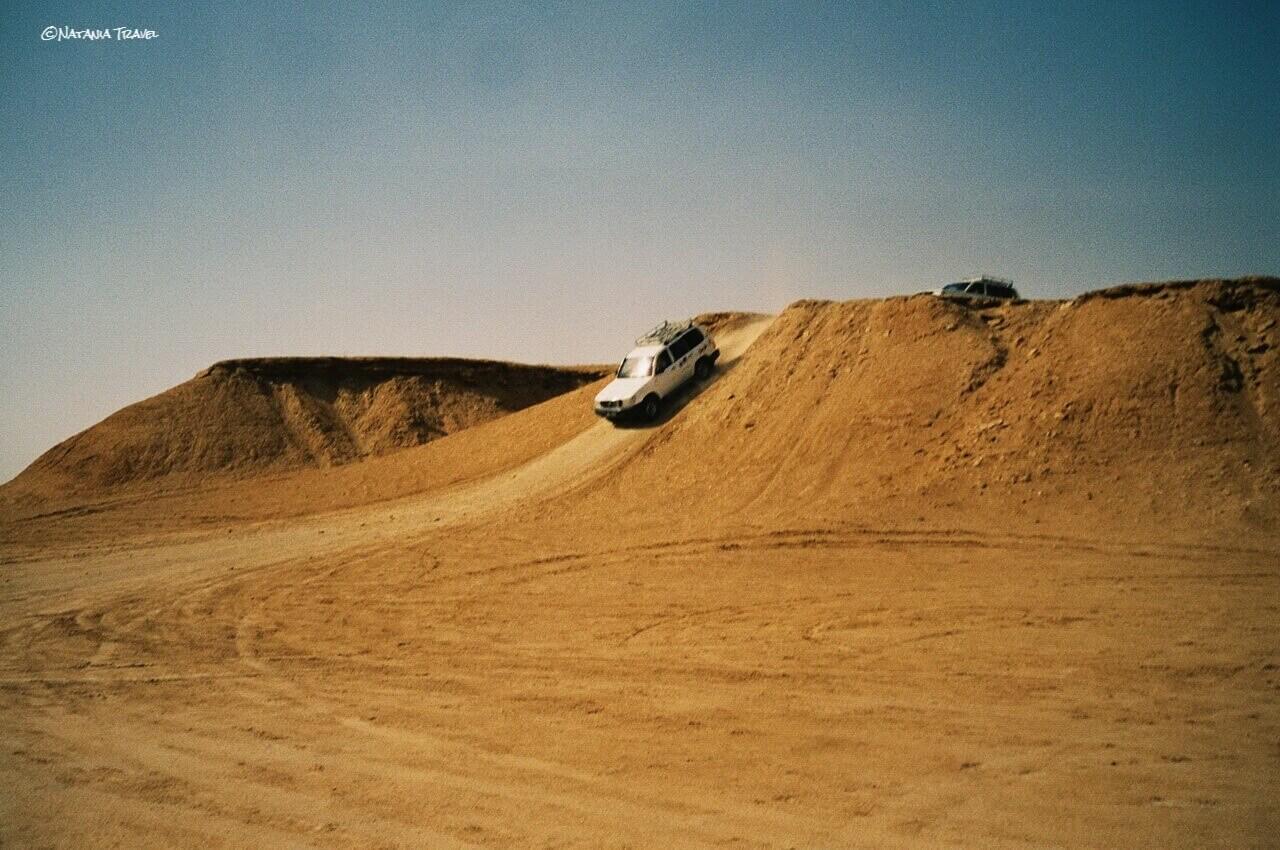 Jeep ride across the dunes