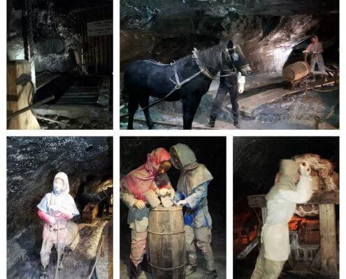 The miners sculptures, Wielizcka salt mine