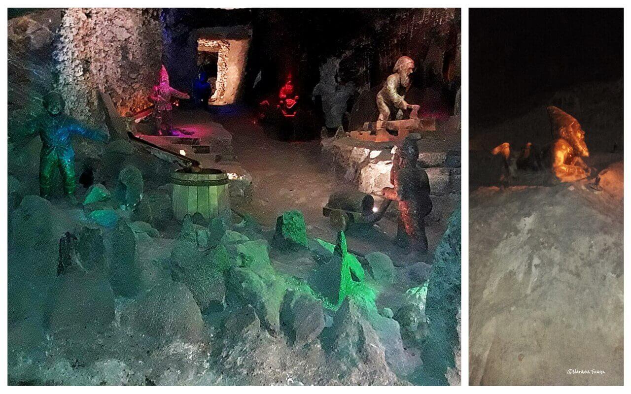 The salt dwarf statues in the salt mine