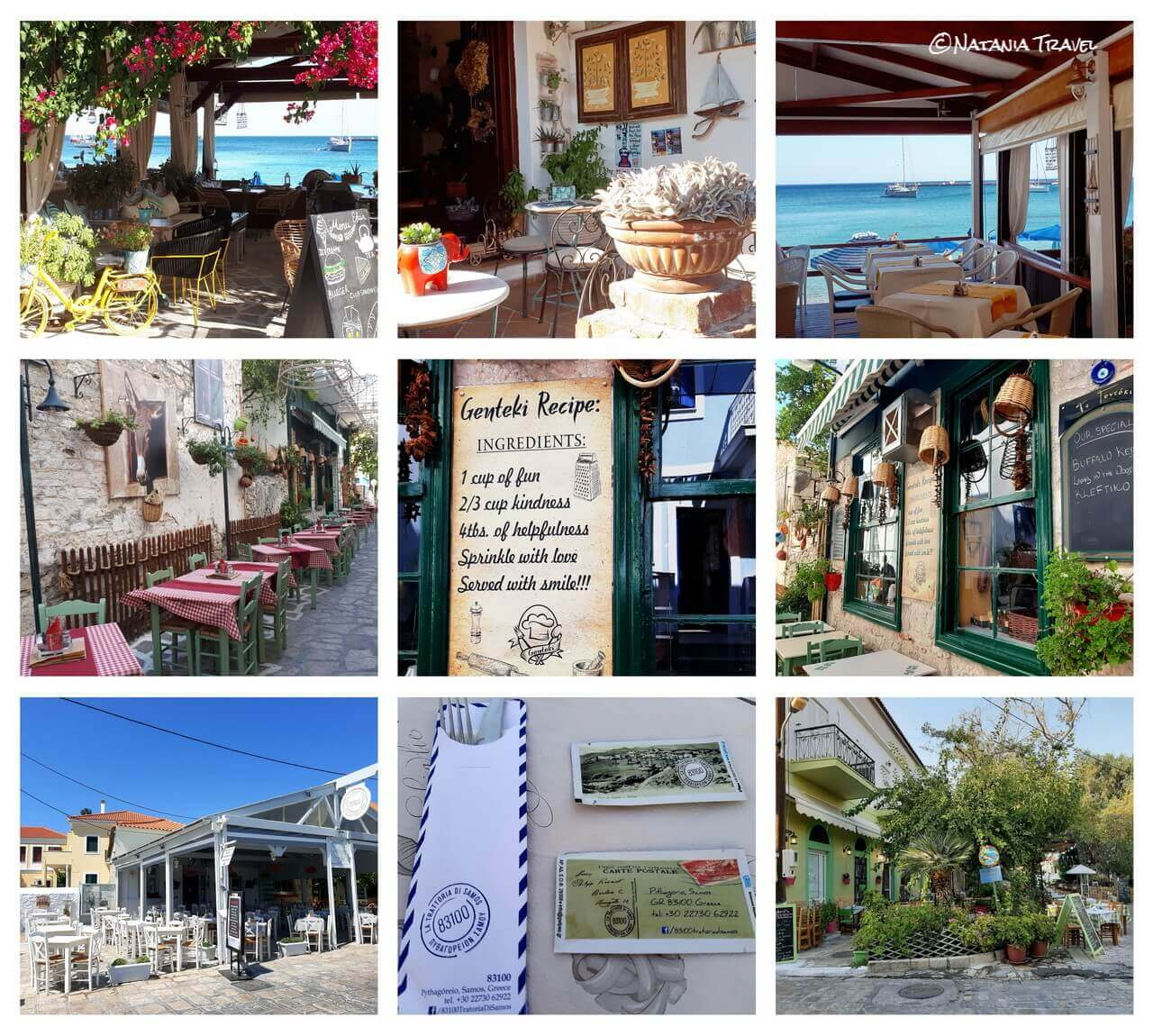 The restaurants in Pythagorion