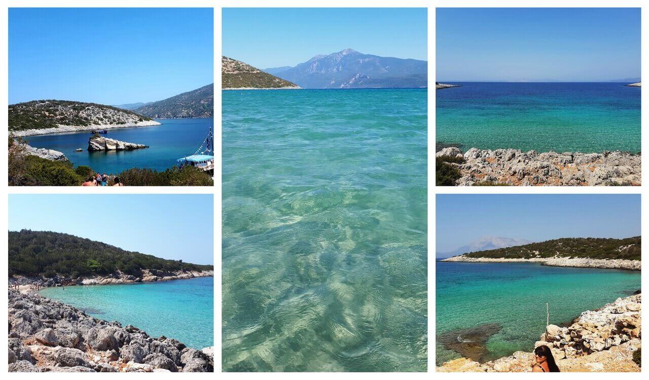 Samiopula island, Samos beaches