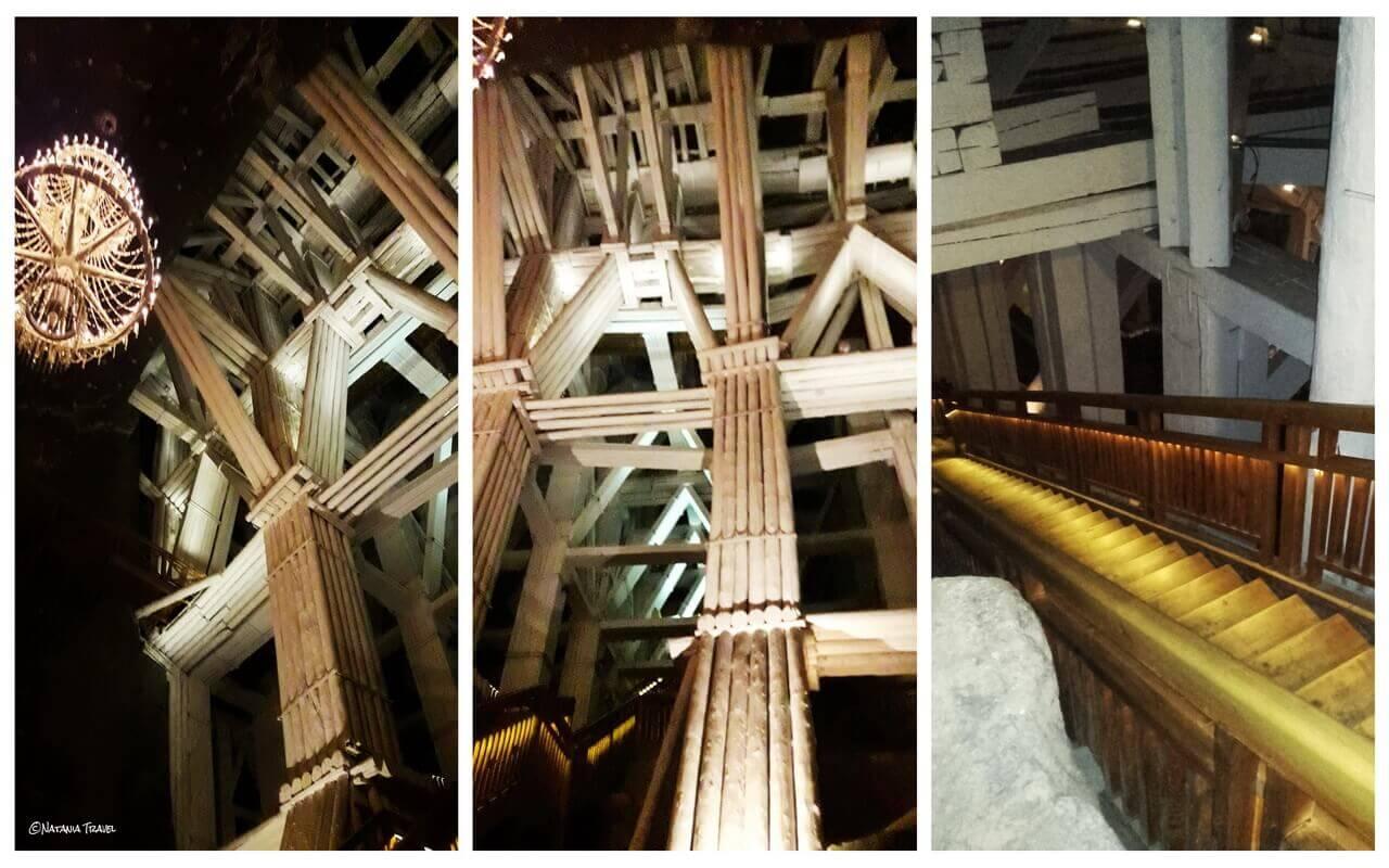 Wooden construction in Wieliczka salt mine