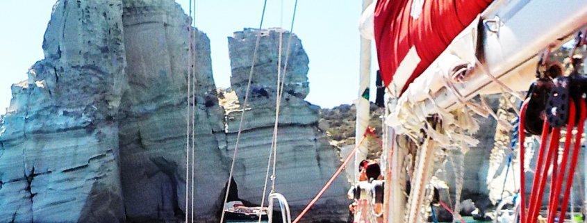 Sailing around Milos, Kleftiko, jedrenje