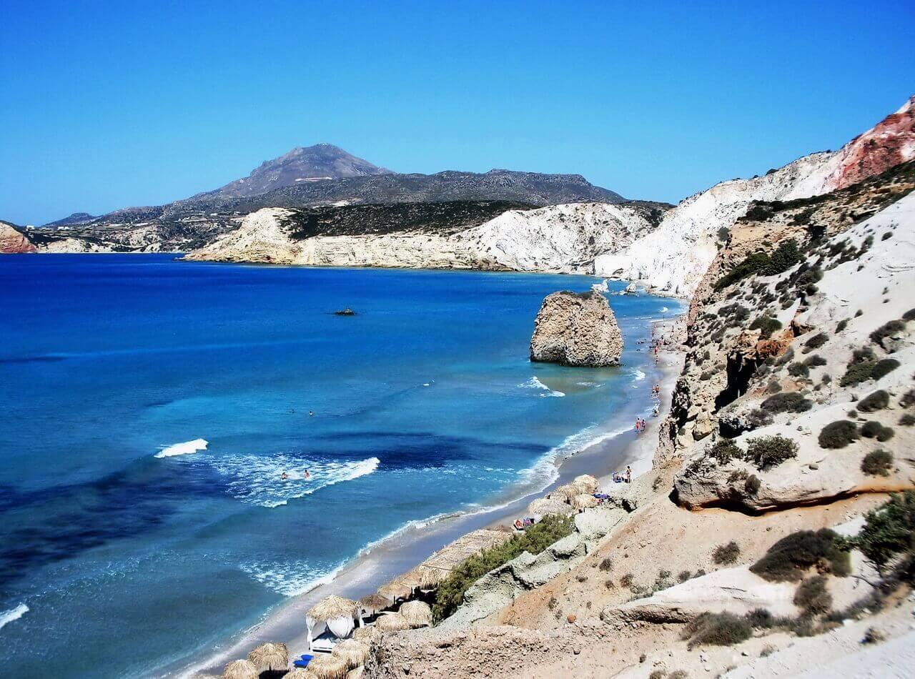 Milos beaches, Fyriplaka beach, Plaže Milosa,