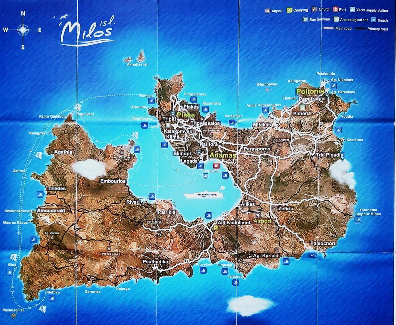 Milos map
