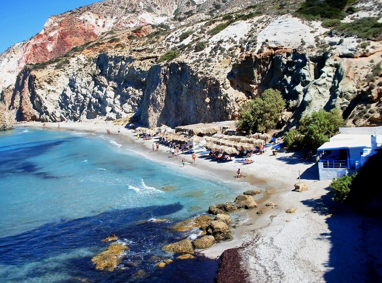 Fyiriplaka beach, Plaže Milosa