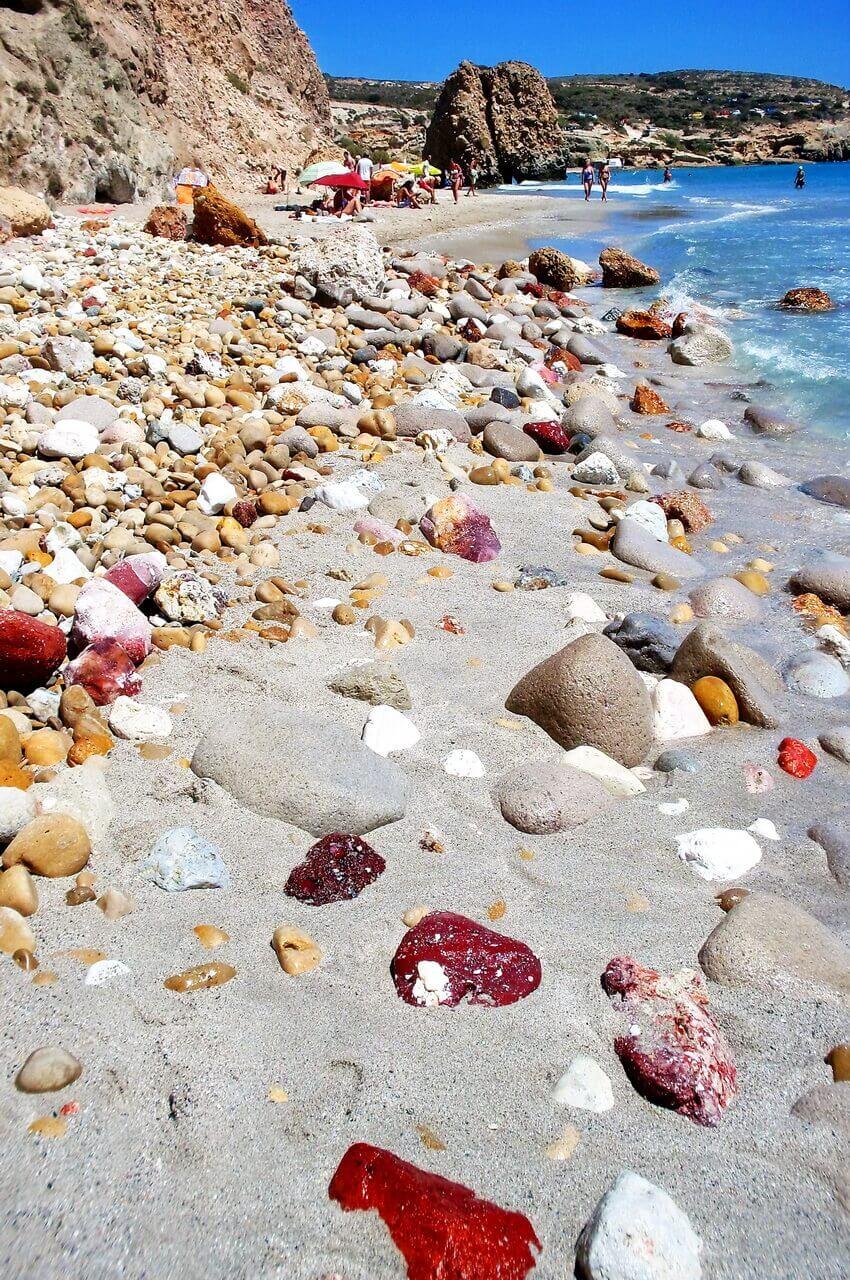 Fyriplaka beach, Plaže Milosa, Milos beaches