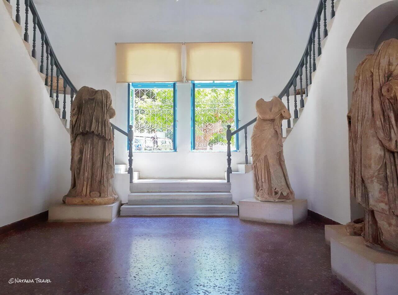 The ancient statues in Samos Archaeological Museum