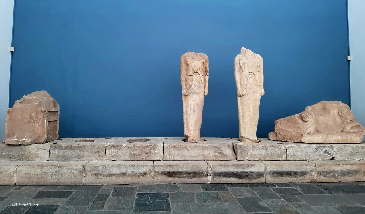 The original ancient statues of the Geneleos group from Heraion, Samos