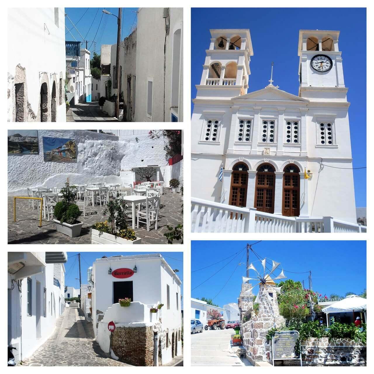 Trypiti church and restaurants