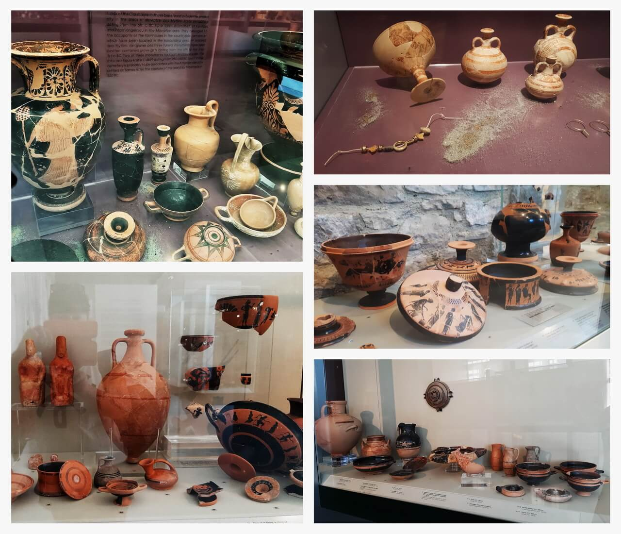 Pottery items, Archaeological Museum Pythagorion