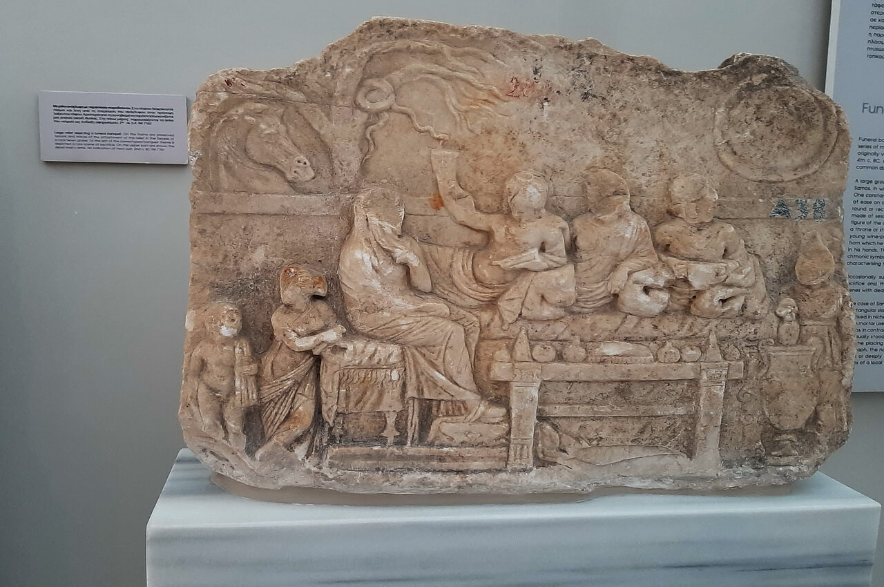 Archaeological Museum Pythagorion, funeral banquet