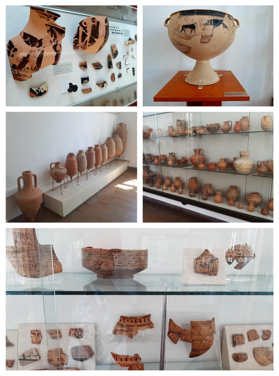 Ancient ottery items, Samos Archaeological Museum, Vathy