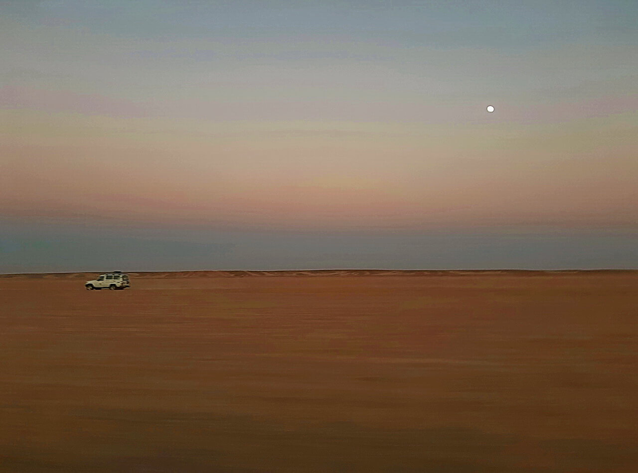 Moon in the desert of Hurghada