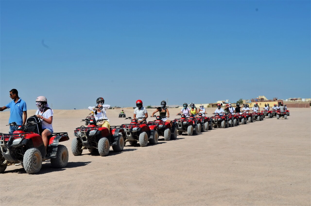 Quad bikes, Desert safari Hurghada, photo by Vesper Group