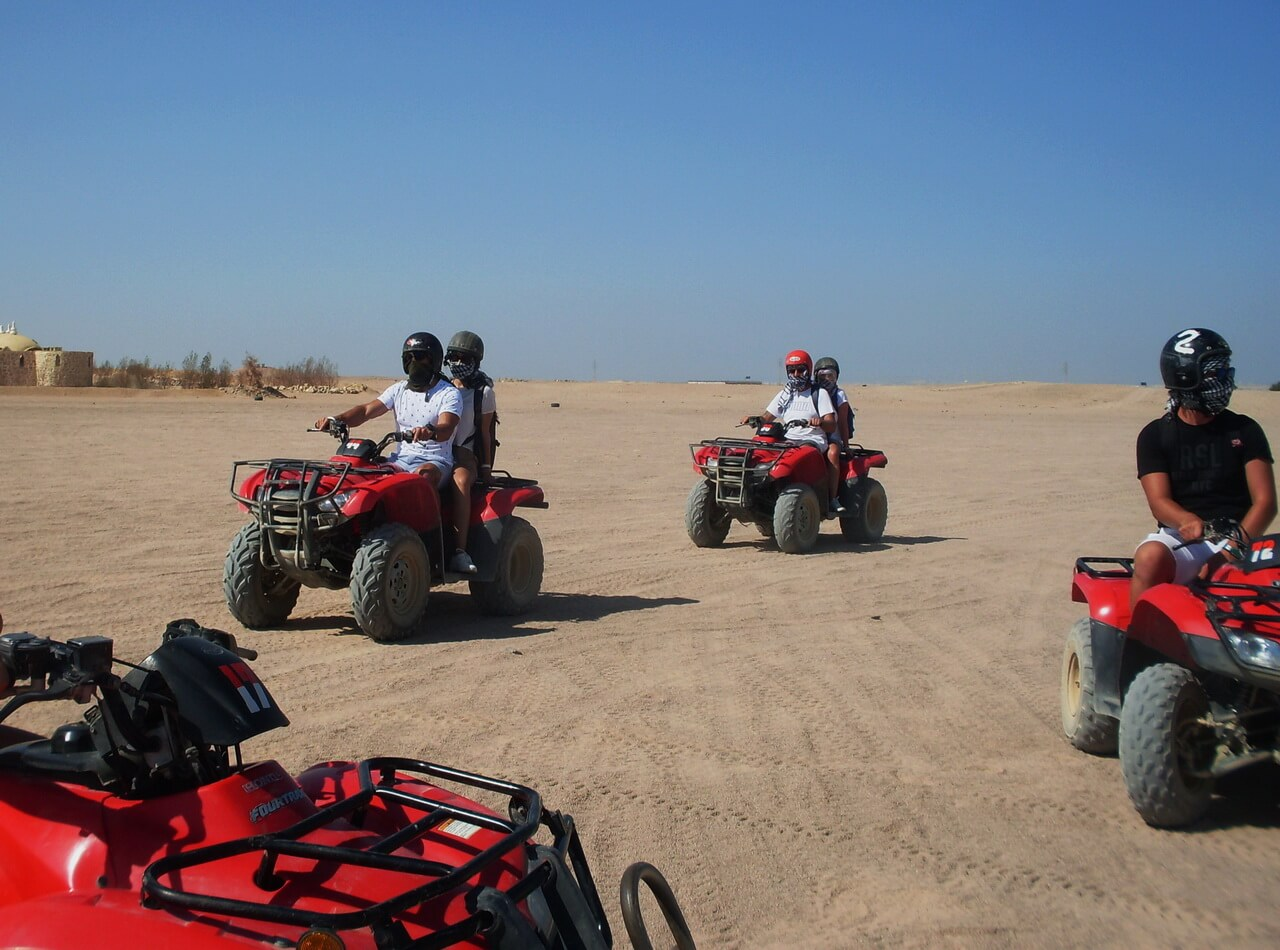 Test drive quad bikes,, safari Hurghada