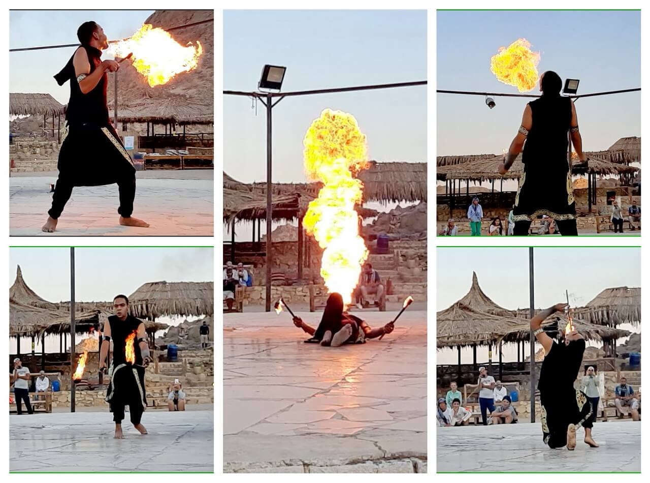 Fire performance, Hurghada safari desert
