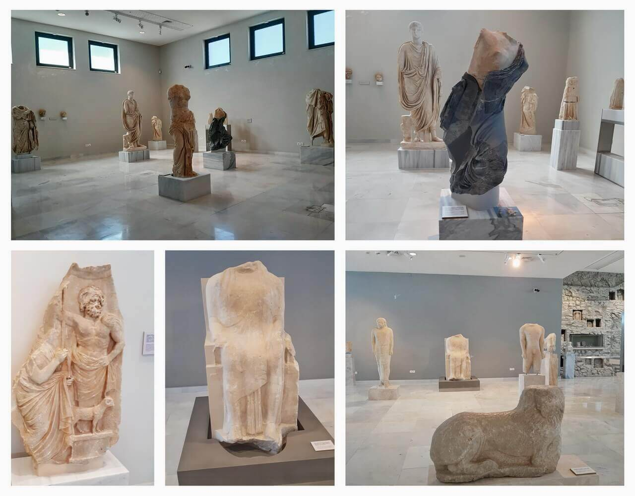 Ancient marble statues, Archeological Museum Pythagorion