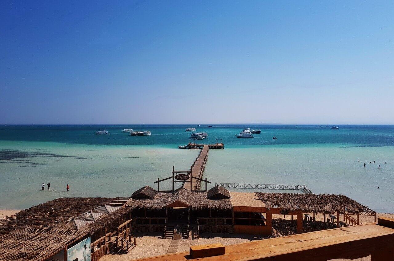 A view on Orange bay, Hurghada, Giftun
