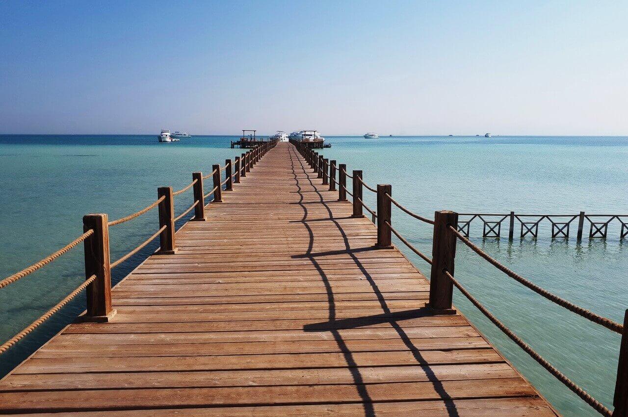 A wooden path to Orange beach