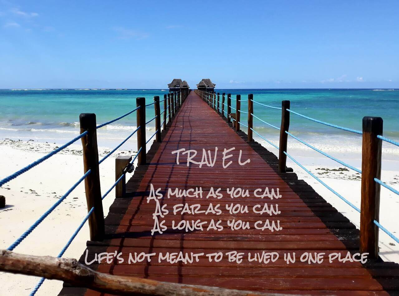 Travel quote, Natania travel blog