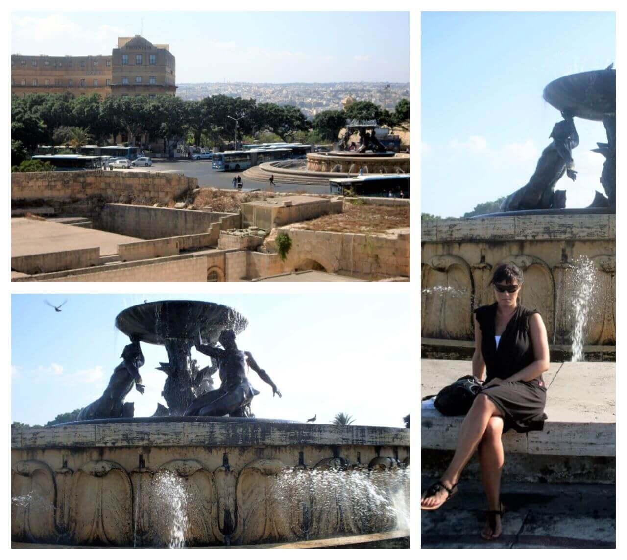 Triton fountain, Valetta, August 2012.