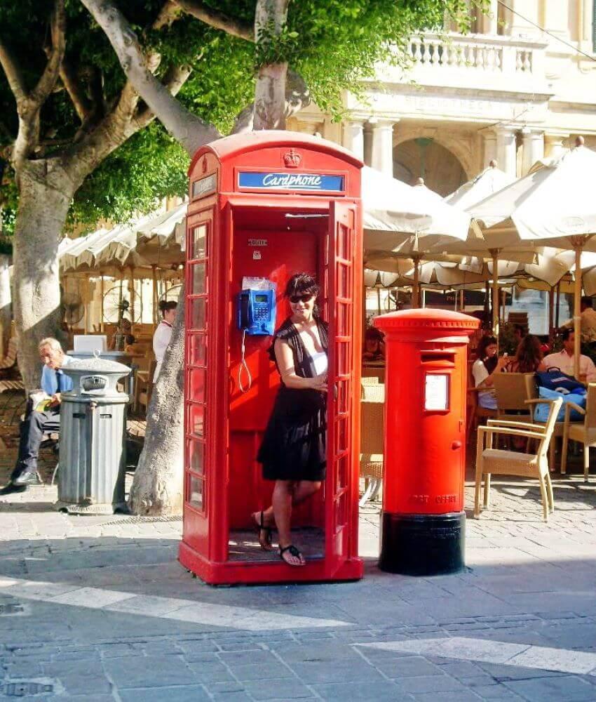 The red telephone box, Valletta