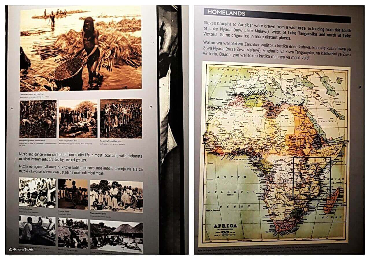 Local's life, and the map of Africa for slave market