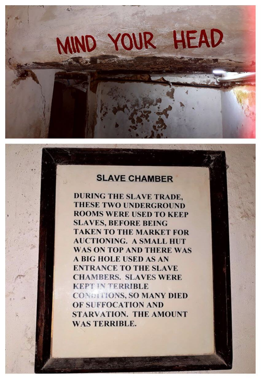 In the front of Slaves chamber, Stone Town, Slave market