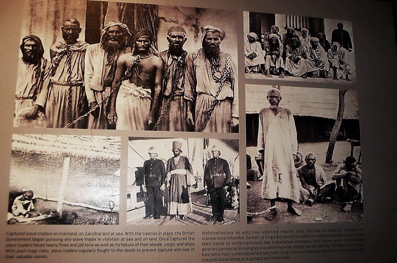 Captured slave traders, Slave market