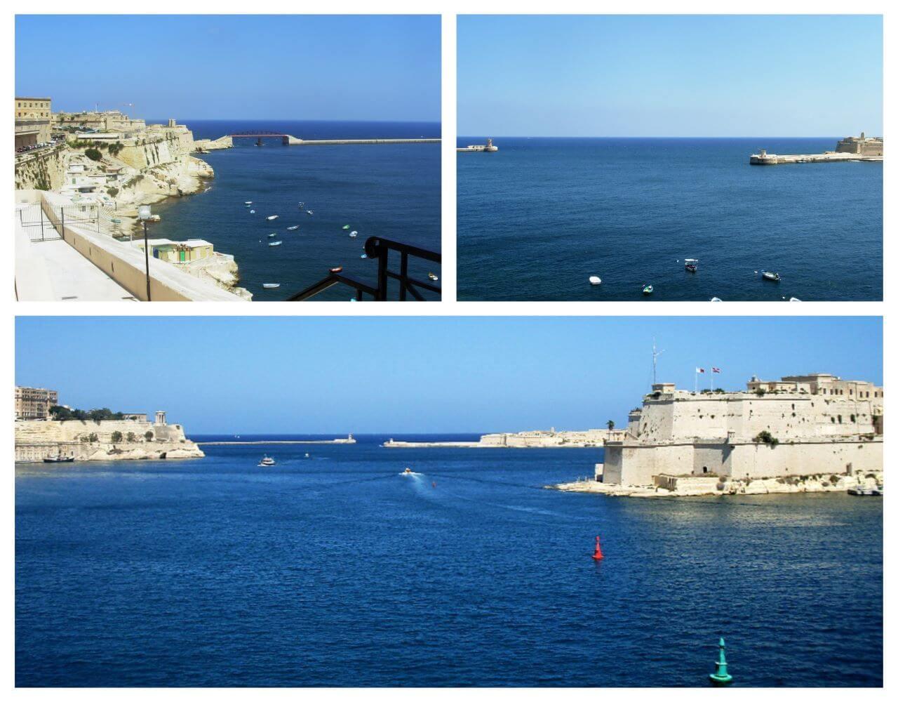 St Elmo breakwater and Risacoli breakwater, Valletta