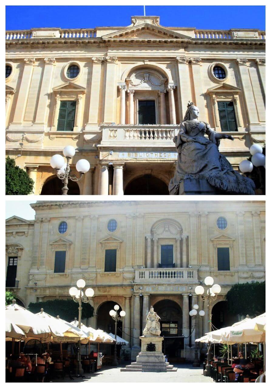 Statue of Queen Victoria in Republic Square, Valletta RS