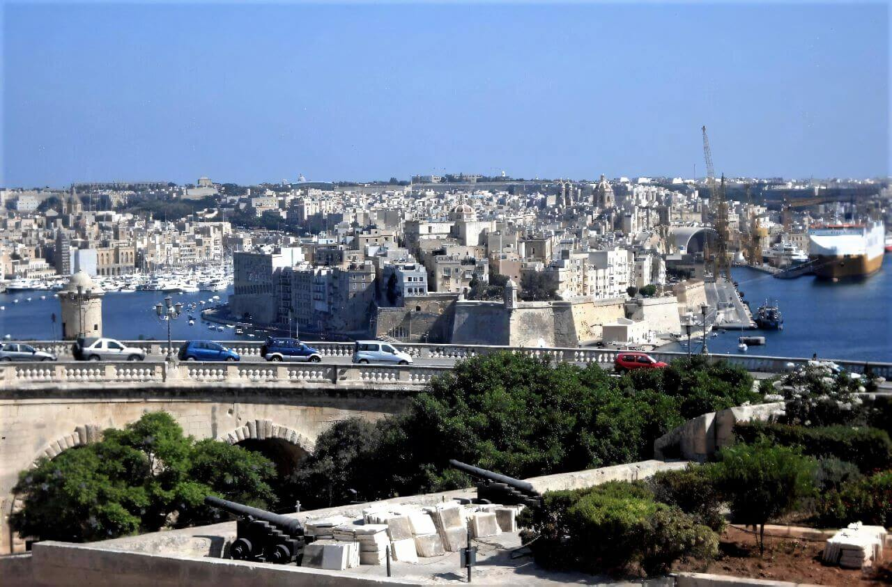 The view from Upper Barrakka Gardens, Valletta