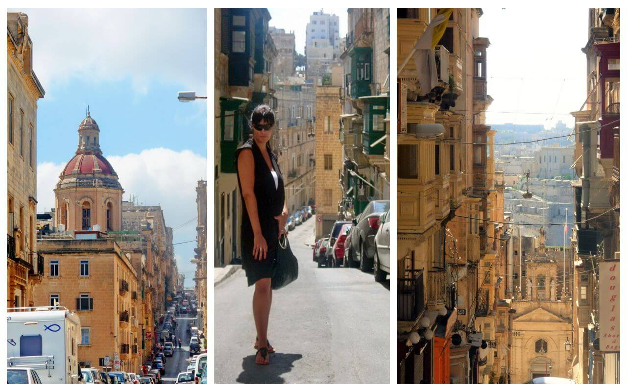 The streets in Valletta