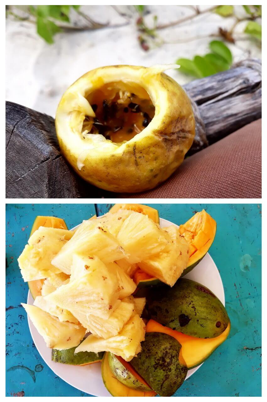 Pineapple, mango and passionfruit, Zanzibar