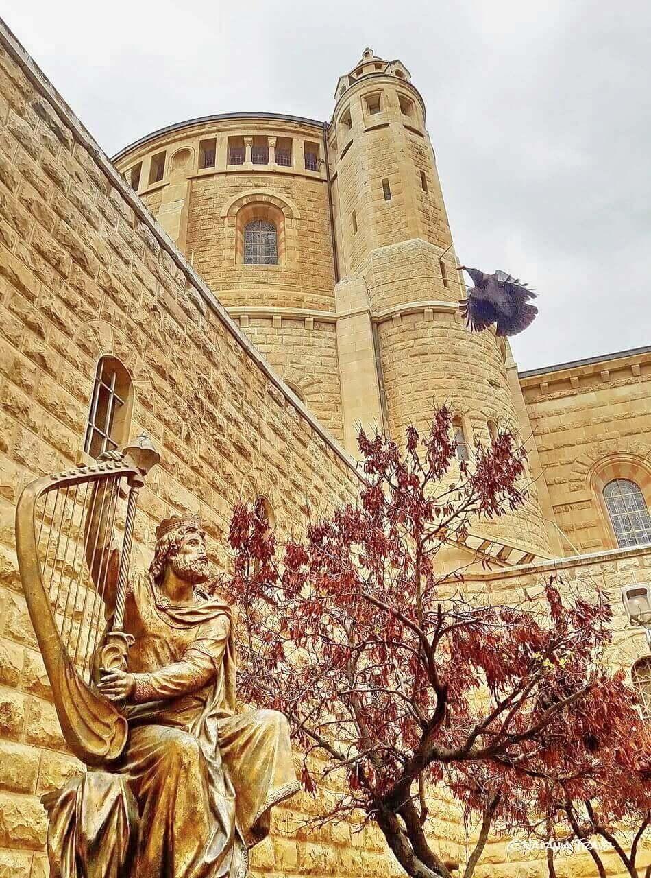 Jerusalem, Mount Zion, the statue of King David