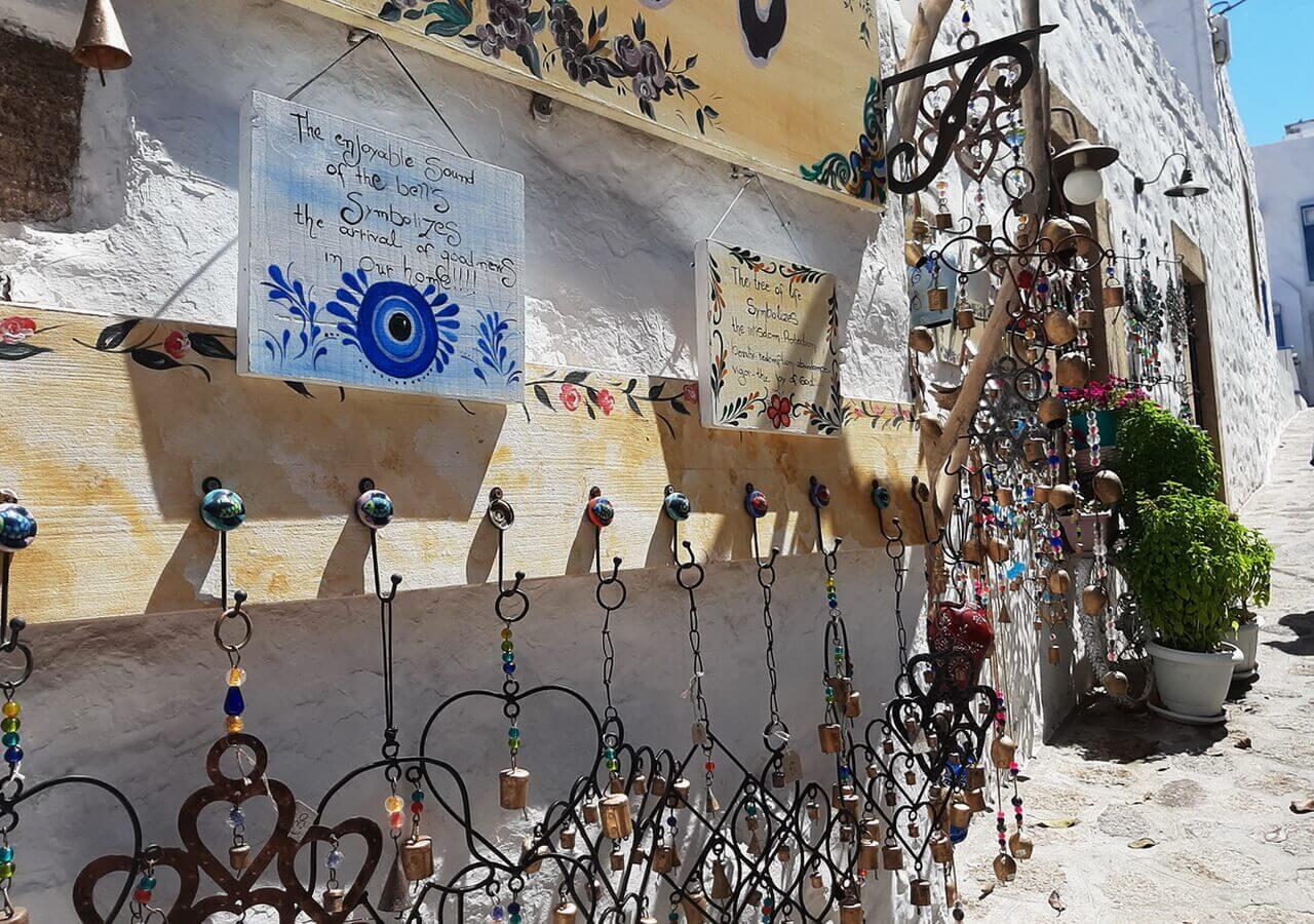Souvenir shop in Patmos Island