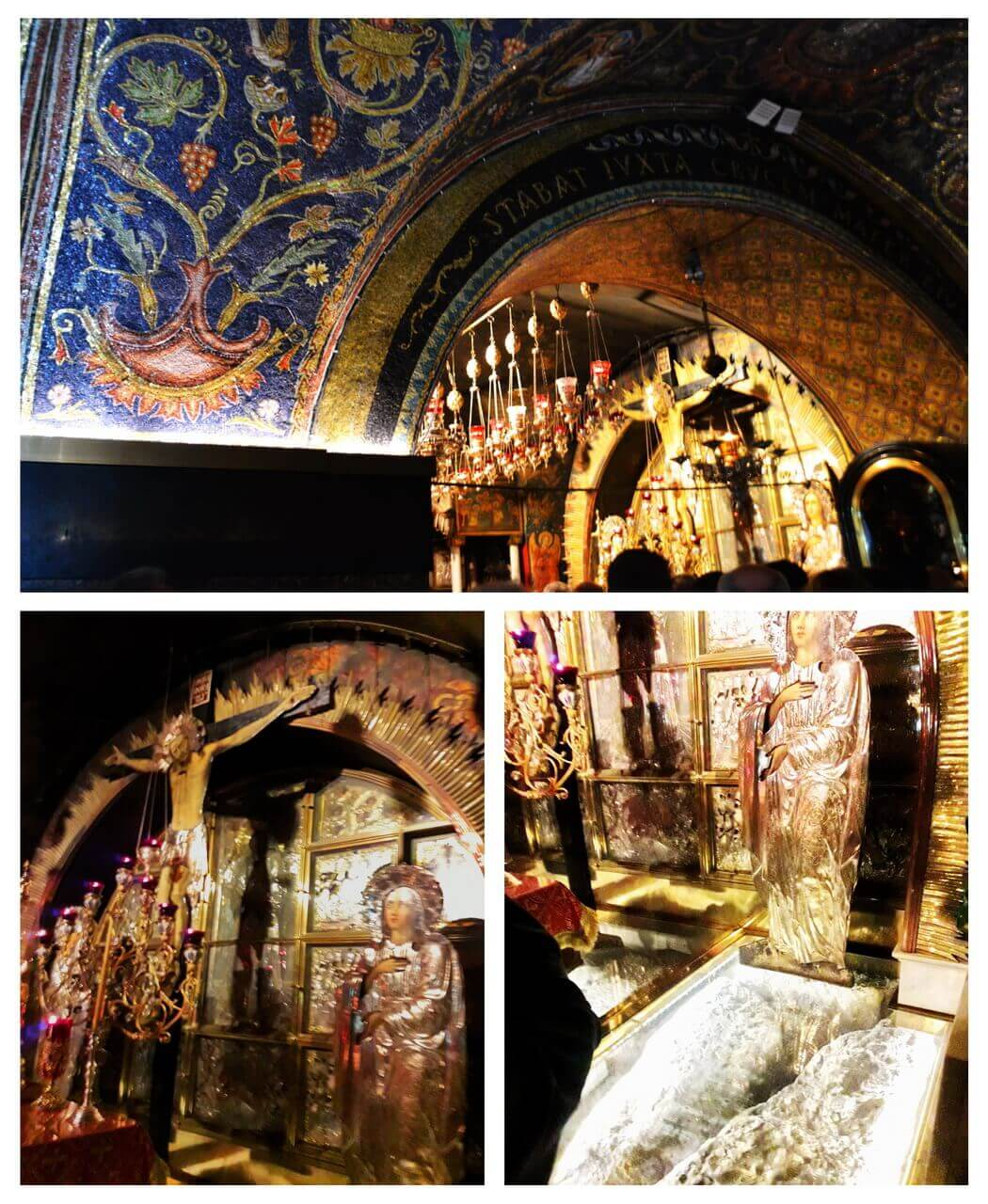 The Altar of the Crucifixion, the Holy of the Church of Holy Sepulchre