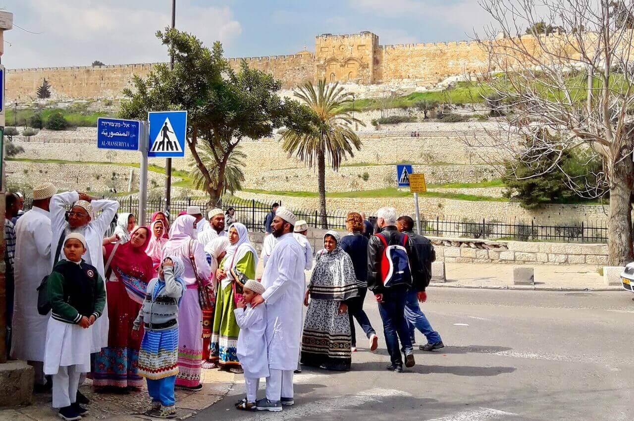Ethiopian pilgrims, Jerusalem