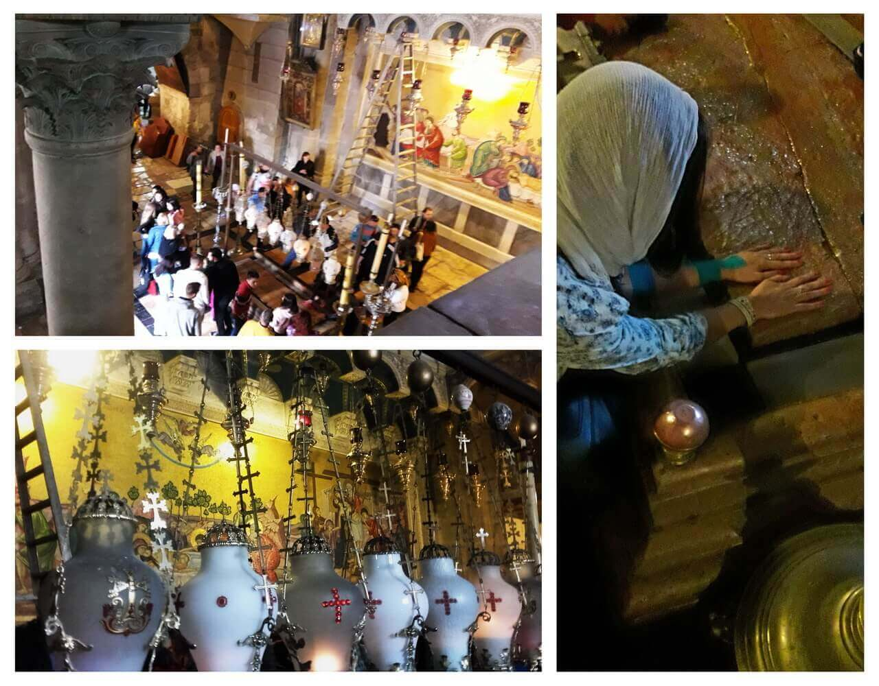 Jerusalem, The Stone of Anointing in the Church of Holy Sepulchre