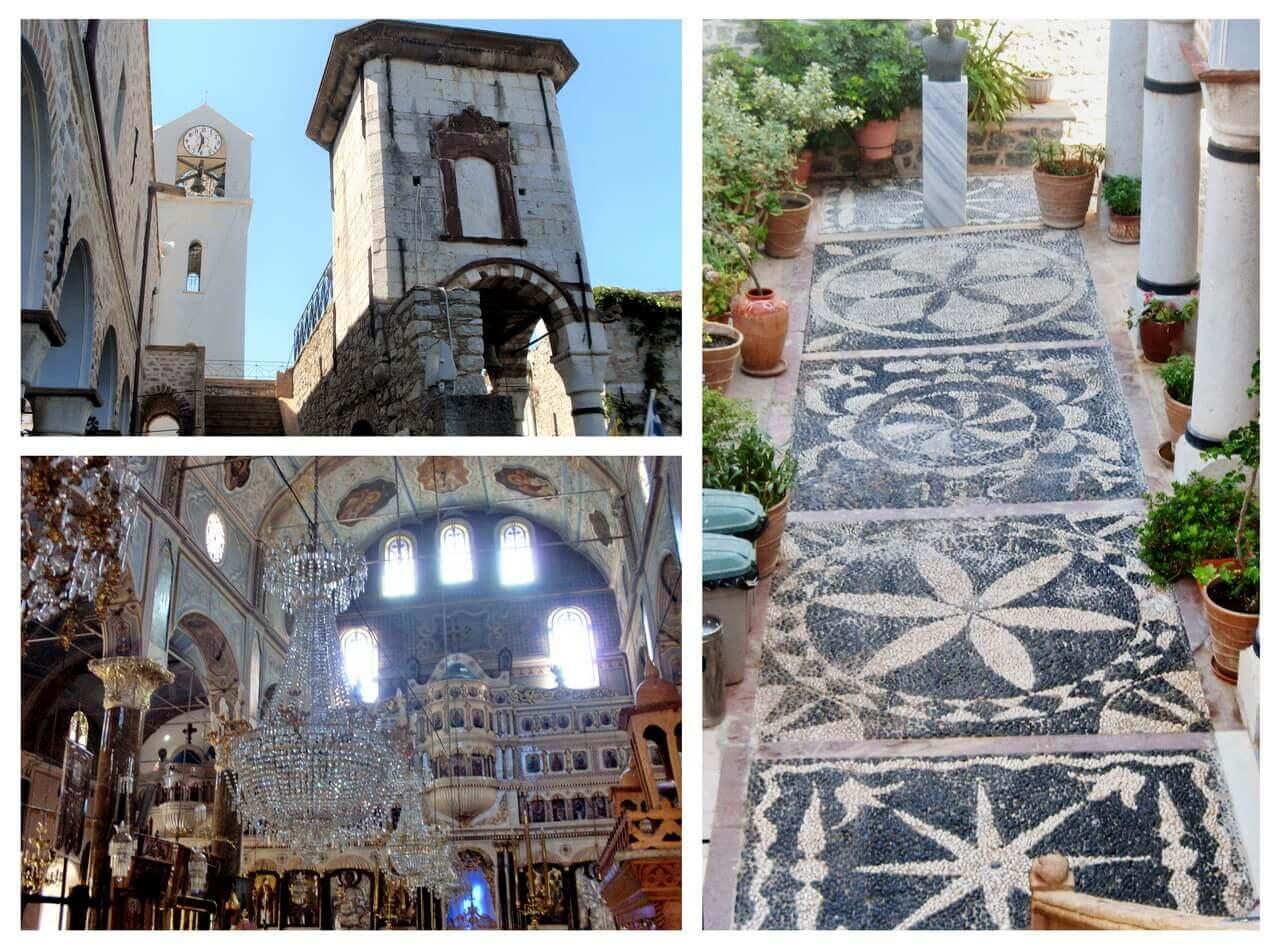 Mesta, the church Megalos Taksiarhis