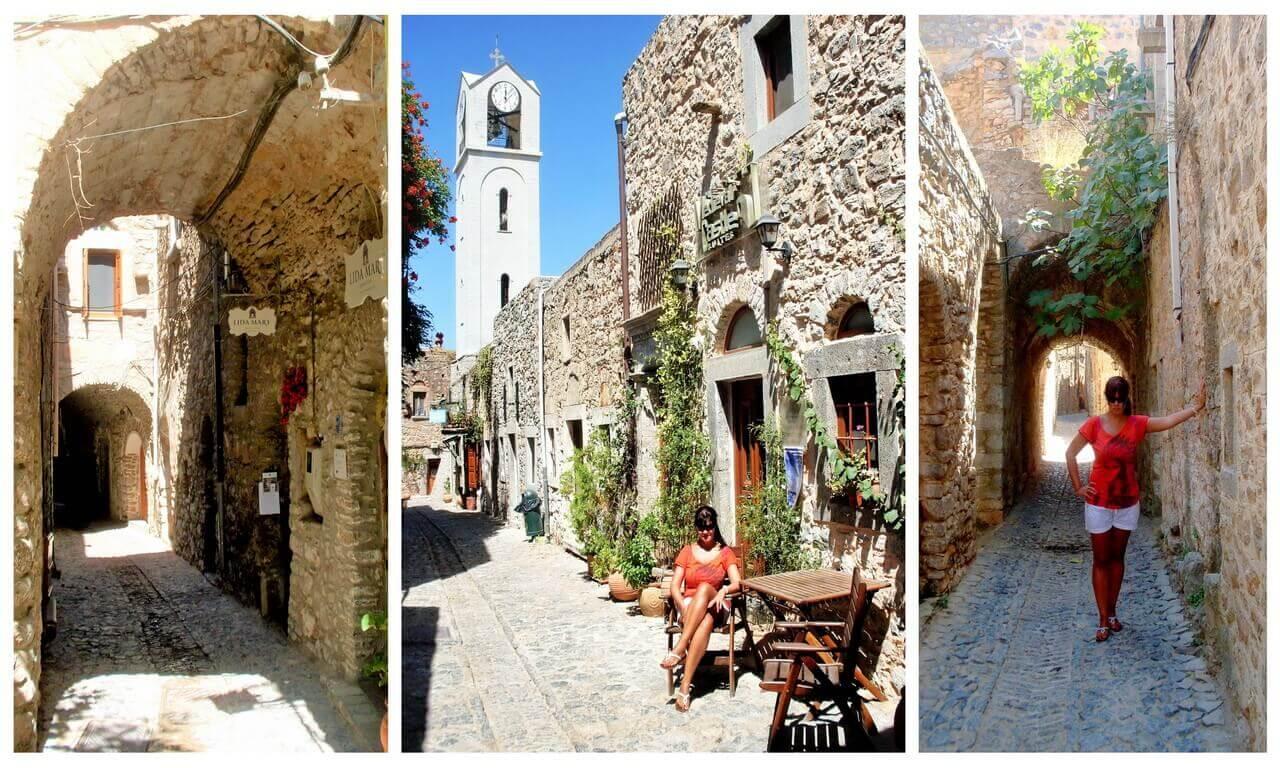 Mesta, walls and corridors, Chios Island