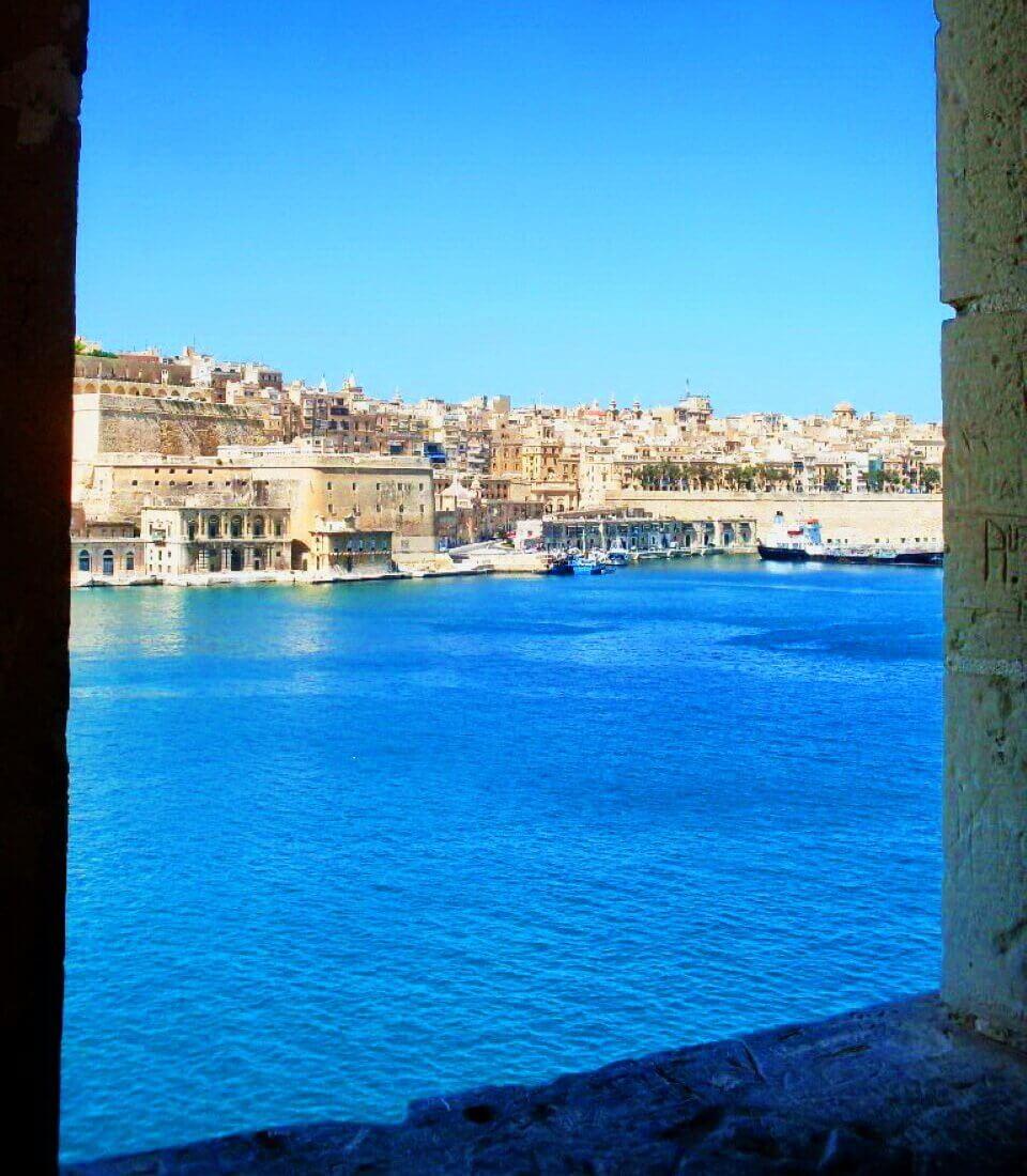 View on Valletta from Gardjola watchtower, Senglea