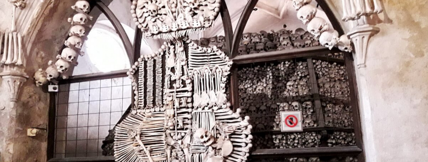 Sedlec ossuary, The Schwarzenberg family coat-of-arms, made with bones